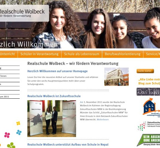 Realschule-Wolbeck-Homepage im responsiven Design