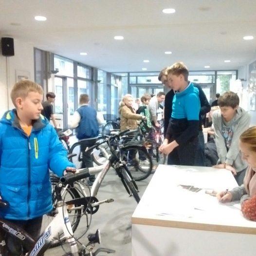 Fahrradlichtaktion an der RS Wolbeck