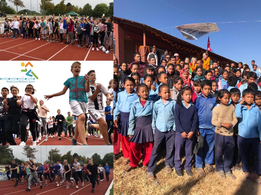Sponsorenlauf für neue Schule in Nepal