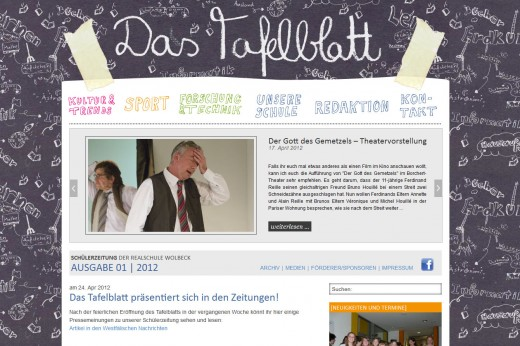 Das Tafelblatt: neue Ausgabe online