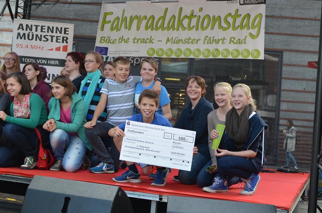 7A als Münsters Leezenklasse Nr 1 geehrt