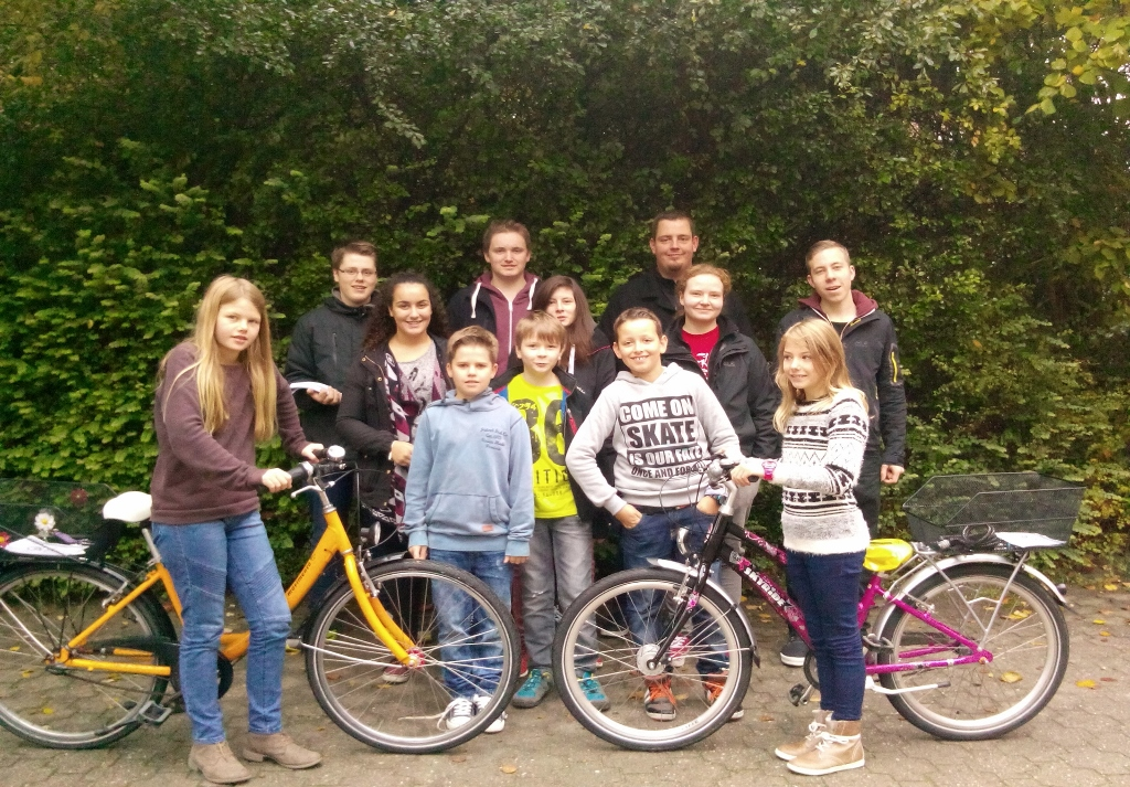 Fahrradlicht-Aktion an der RS Wolbeck am 20.10.2015