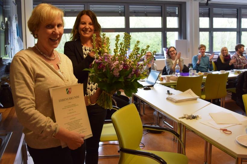 Monika Törner zum vierzigsten Dienstjubiläum geehrt