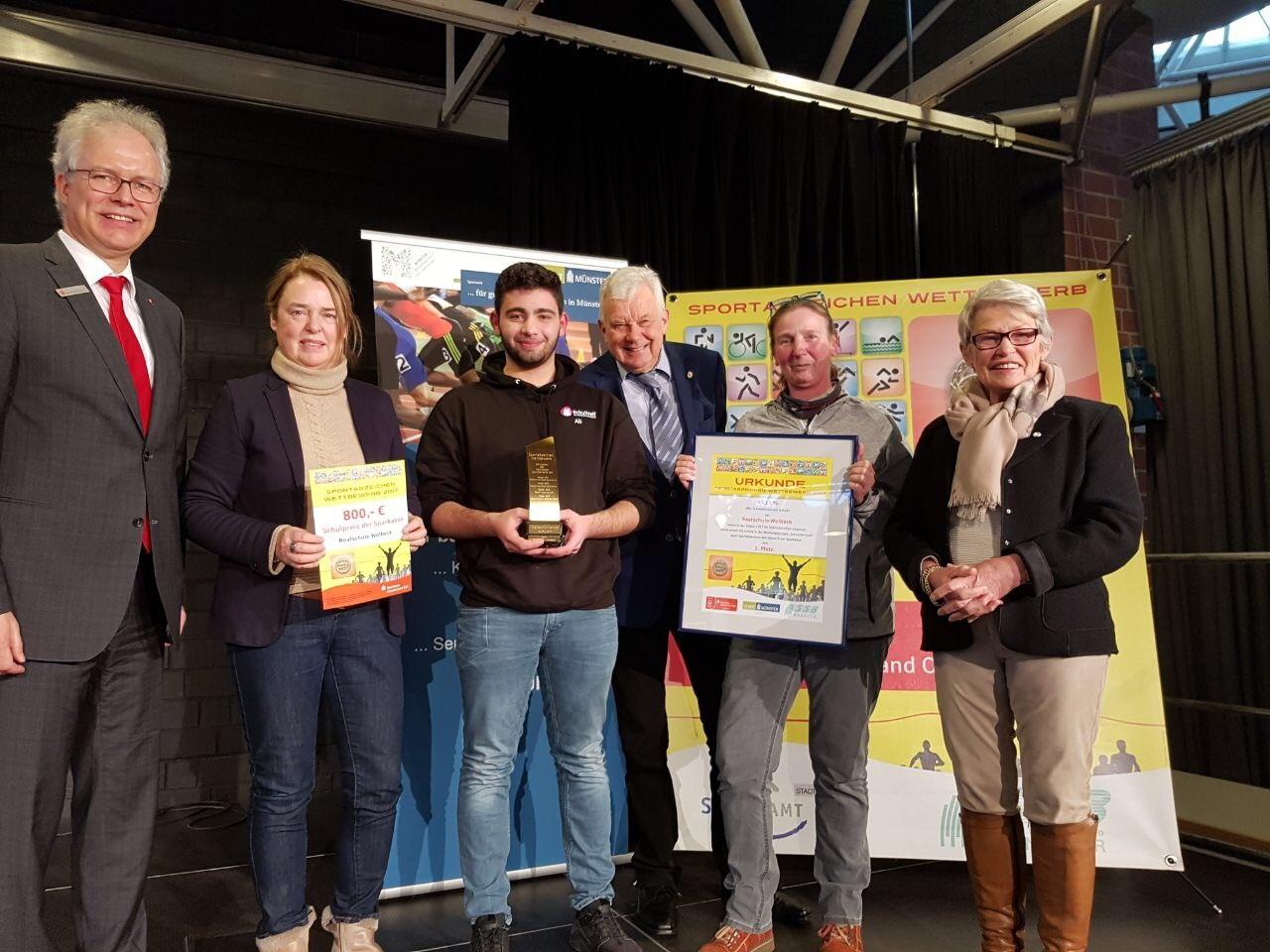 Realschule Wolbeck gewinnt Sportabzeichen-Wettbewerb der Stadt Münster