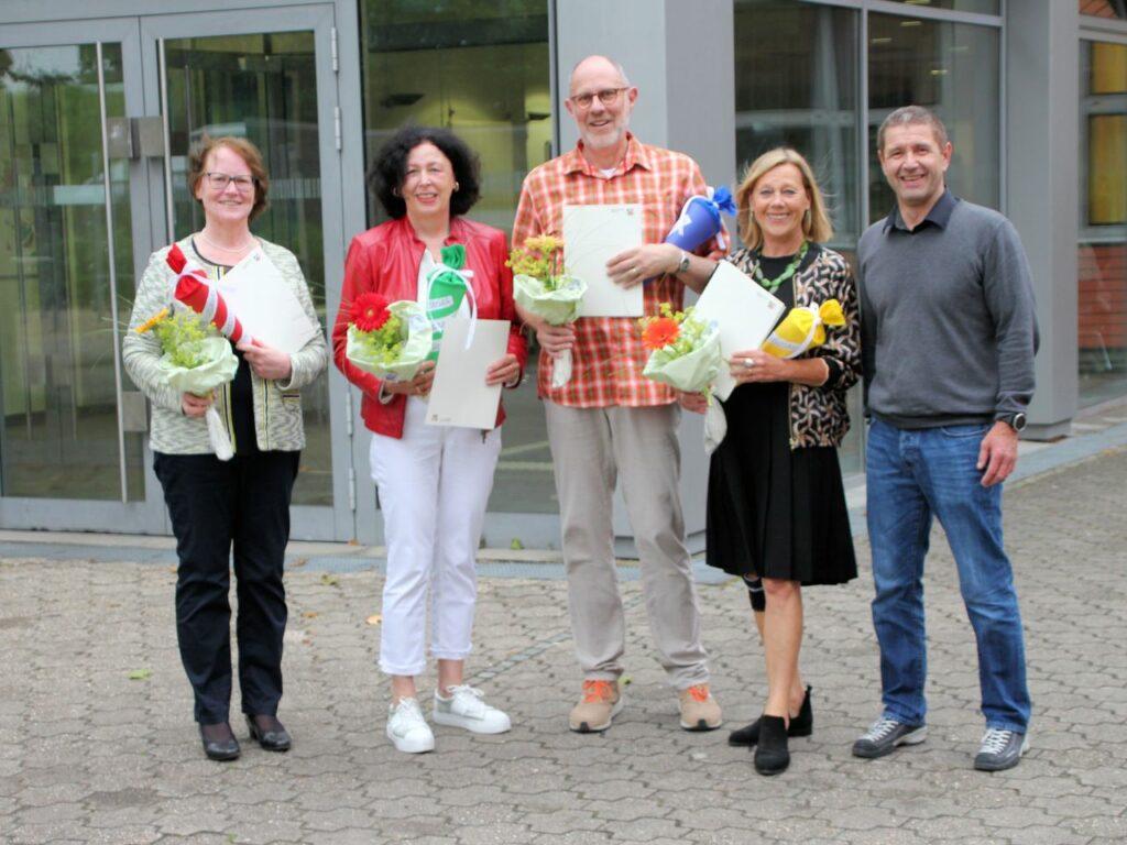 110 Jahre Erfahrung - Realschule Wolbeck verabschiedet 4 Lehrkräfte in den Ruhestand